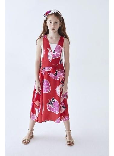 Lia Lea Kız Çocuk Kırmızı Elbise Kırmızı